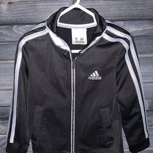 Black and Silver Adidas Jacket 2T